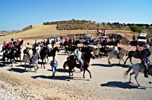 Los jinetes fueron ovacionados al llegar a Fuistiñana.