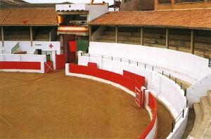 Panorámica de la plaza de toros de Peralta.