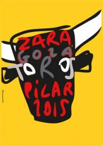 Este es el cartel de Urmeneta que anunciará la Feria de El Pilar de Zaragoza.