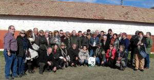 El grupo de aficionados el año pasado en la ganadería de Baltasar Ibán.