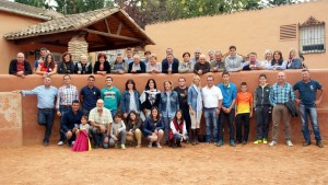 Los socios del Club Taurino Casta Brava de Arguedas en la finca El Montecillo.