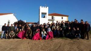 El Club Taurino Tafallés, el año pasado en la finca Los Alijares, de Adolfo Martín.