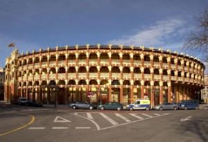 Fachada de la bonita plaza de Zaragoza.