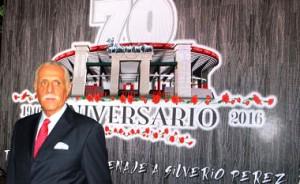 Rafael Herrerías en la presentación de la Temporada Grande de La México. Fotografía: Tadeo Alcina.