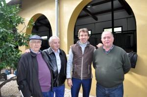 De izda. a dcha., Emilio García San Miguel, Jesús Zúñiga, Pablo Hermoso de Mendoza y Juan Ignacio Ganuza. Fotografía: Jaime Esparza.