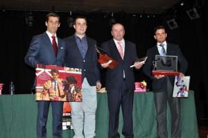 De izda. a dcha., Francisco Marco, Andrés Baztán, Fernando Pizarro y Alberto Aguilar. Fotografía: Miguel Monreal.