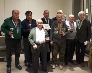 Todos los premiados del campeonato de mus entre la Meca y el taurino de Pamplona.