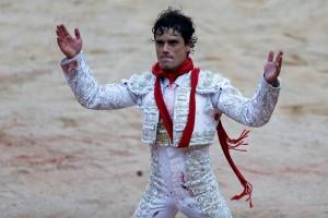 Miguel Abellán, dando una vuelta al ruedo en la pasada feria pamplonesa.