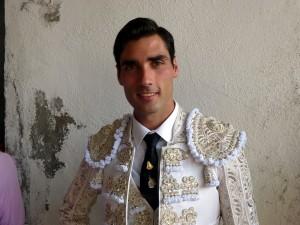 Antón, el pasado mes de septiembre antes de torear en la plaza de Corella, donde triunfó.