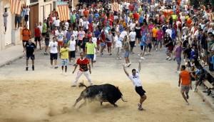 Un festejo de Bous al Carrer en Valencia.