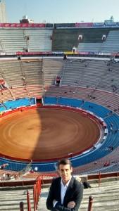 Francisco Marco visitó hace unos días la Monumental de México, donde hará el paseíllo el próximo 3 de diciembre.