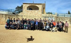 Los socios del Club Taurino Tafallés en la plaza de tientas de Saltillo.