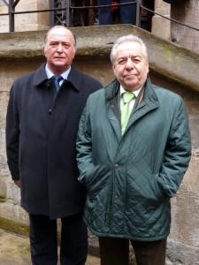 Juan Ignacio Ganuza y José María Sevilla, presidente y vicepresidente del Club Taurino de Pamplona.