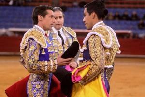 Marco fue el pasado 3 de diciembre el padrino de la confirmación de la alternativa en la plaza México de Antonio Romero.