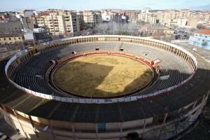 Panorámica de la plaza de toros de Tudela. Fotografía: Nuria G. Landa.