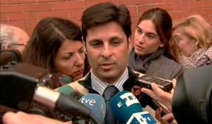 Rivera Ordóñez, ayer, ante los medios de comuncación.