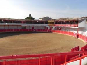 Panorámica de la plaza de toros de Fitero.