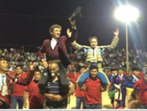 El caballero navarro salió a hombros en Valladolid junto al diestro Martínez Vertiz.