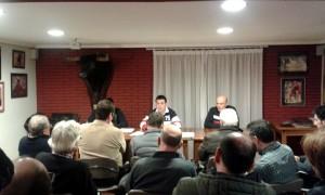 Un momento de la asamblea general del Club Taurino Tafallés.