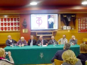 De izda. a dcha., Juan Antonio Roncal, Emilio García San Miguel, Fernando Moreno, Juan Ignacio Ganuza, Ignacio Cía, Lalo Moreno y Jesús Zúñiga.