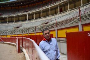 Ángel Hidalgo en la plaza de toros de Pamplona.