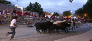 Un momento del encierrillo de Pamplona.