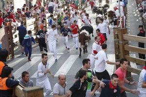 Uno de los encierros de las fiestas tudelanas del año pasado.