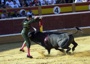 Juan Antonio Algaba. Cogido por el segundo