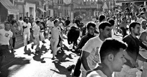 Numerosos corredores de fuera se dieron cita en Lodosa. Fotografía: Vaquero.