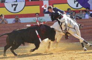 Hermoso, sobre 'Pirata', ha protagonizado otra gran actuación en Ejea de los Caballeros. Fotografía: pablohermoso.net
