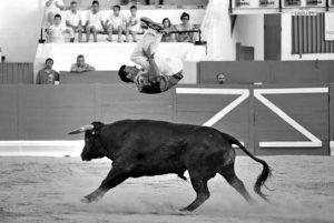 Uno de los saltos del ganador, Paquito Murillo. Fotografía: Alberto Galdona.