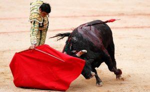 Derechazo de Perera a un toro de Núñez del Cuvillo el pasado 13 de julio en la plaza de Pamplona.
