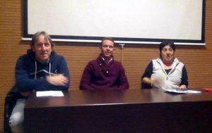 De izda. a dcha., Javier Lezaun, Odei Ruiz de Jimena y María Ángeles Martín.