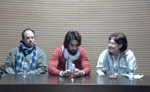 De izda. a dcha., Raúl Martín Laspalas, Roberto Armendáriz y María Ángeles Martín.