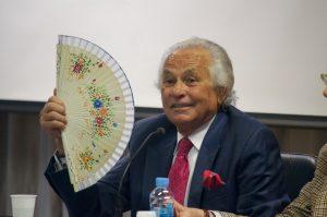 Sebastián Palomo Linares, durante su intervención en la Universidad Pública de Navarra.