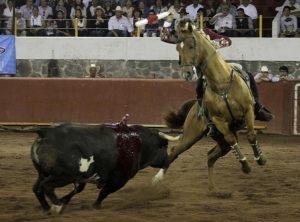 El caballero navarro, con 'Dalí' y sus piruetas, encandiló en Alpuyeca la público mexicano. Fotografía: pablohermoso.net