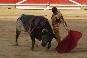 Natural de Gómez Escorial a un toro de Miura en Pmplona hace casi catorce años.