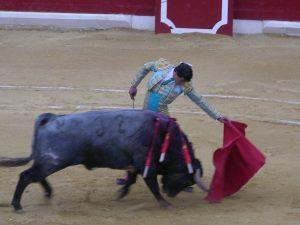 Natural de Paco Ureña a un utrero de Partido de Resina hace once años en la plaza de Peralta.