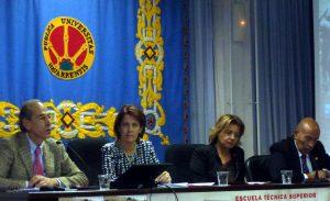 Un momento de la sesión inaugural de las últimas jornadas sobre el ganado de lidia, celebradas a finales de 2014.