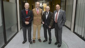 De izda. a dcha., Vidal Pérez Herrero, Antonio Purroy, Ignacio Cía y Carlos Buxadé. Fotografía: Pablo Lasaosa para Navarra.com