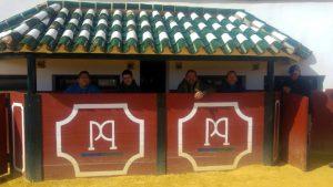 En la plaza de tientas de Cayetano Muñoz.