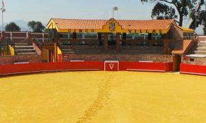 En esta coqueta plaza del cortijo Cinco Villas toreó y debutó ayer Pablo Hermoso de Mendoza.