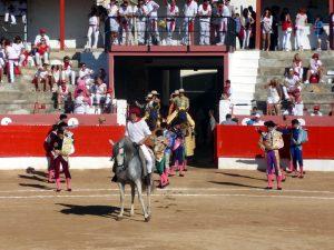 El paseíllo, uno de los primeros rituales de los festejos mayores.