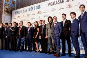 Algunos de los diestros que torearán en Las Ventas y que acudieron a la gala. Fotografía: Javier Arroyo.