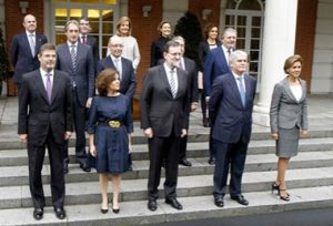 El presidente y su equipo de ministros forman el Gobierno de España.