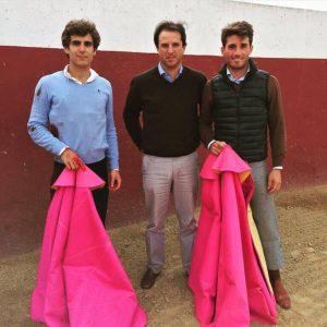 Marín, primero por la izquierdo, Borja Domecq y Alfonso Cadaval.