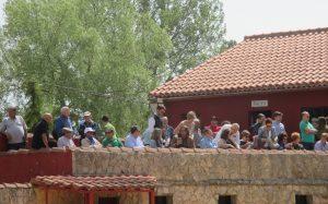 Numerosos aficionados se dieron cita en la plaza de tientas de La Cabañuela.