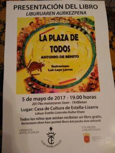 Cartel anunciador de la presentación del libro.