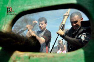 Un momento del herradero del pasado sábado en El Ontanal. Fotografía: Daniel Pablo.
