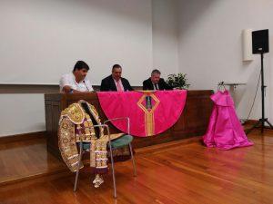 De izda. a dcha., Juan José Crespo, Jorge Fajardo y Roberto Ojer, en un momento de la charla.